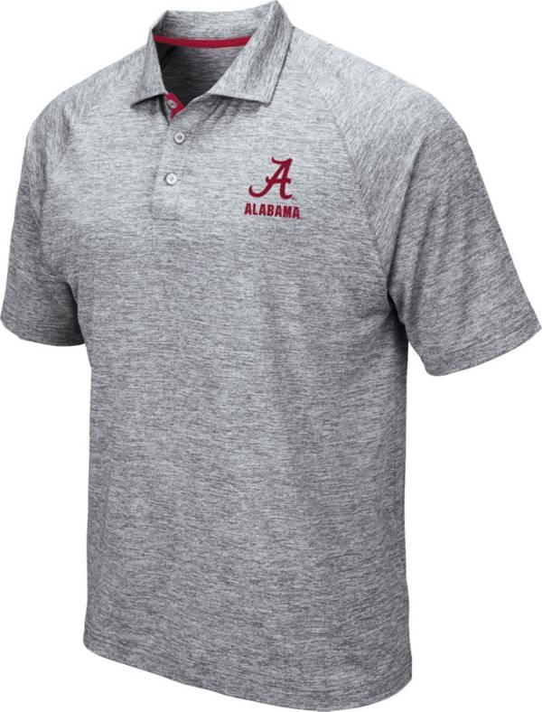 Colosseum Men's Alabama Crimson Tide Grey Wedge Polo product image