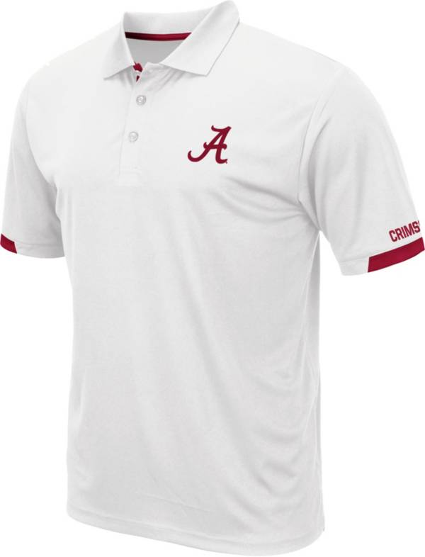 Colosseum Men's Alabama Crimson Tide Fore White Polo product image