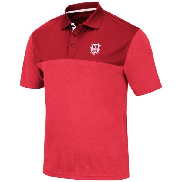 Colosseum Men's Bradley Braves Red Links Polo product image