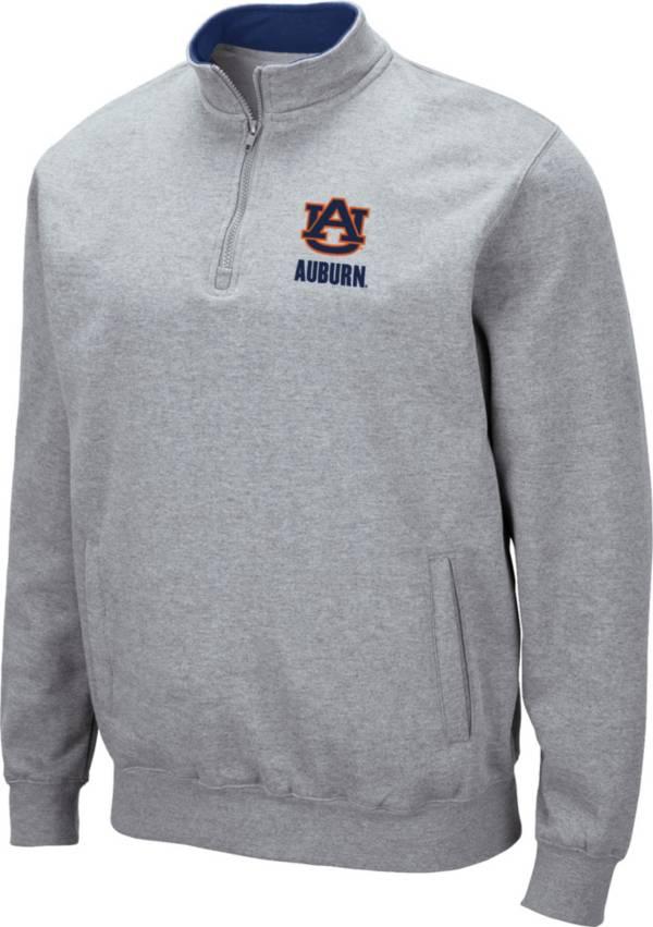 Colosseum Men's Auburn Tigers Grey Fleece Quarter-Zip Shirt product image