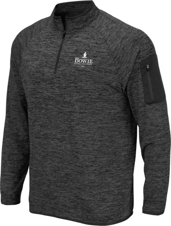 Colosseum Men's Bowie State University Bulldogs Grey Quarter-Zip Pullover product image