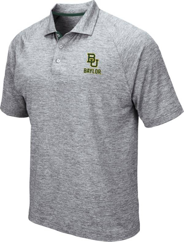 Colosseum Men's Baylor Bears Grey Wedge Polo product image
