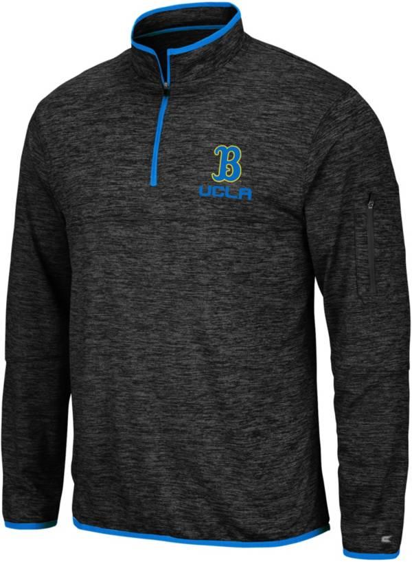 Colosseum Men's UCLA Bruins Slub Quarter-Zip Black Shirt product image