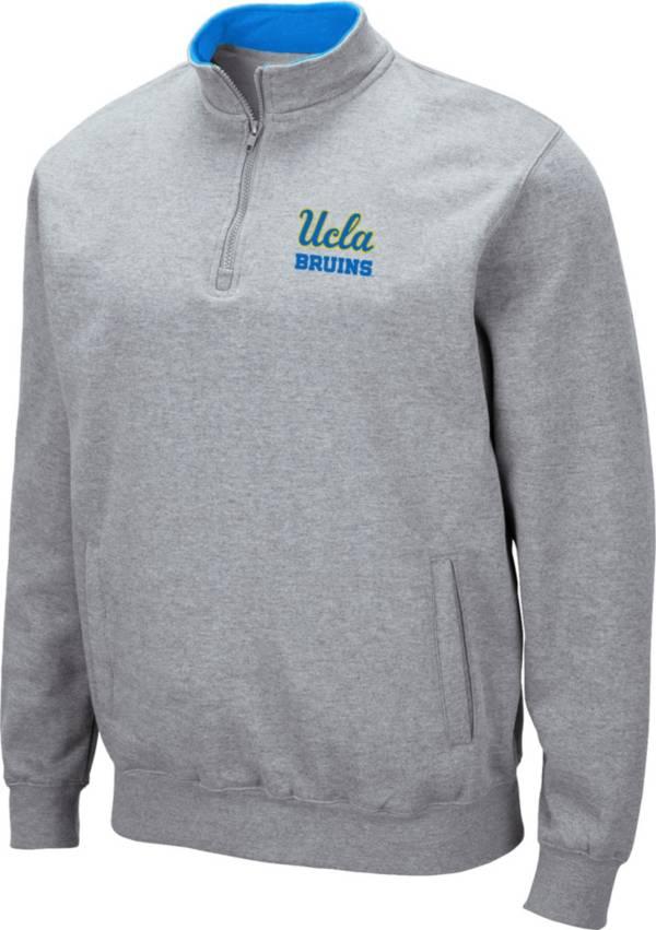 Colosseum Men's UCLA Bruins Grey Fleece Quarter-Zip Shirt product image