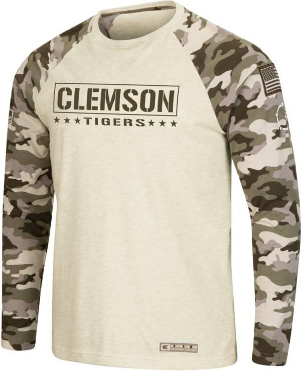 Colosseum Men's Clemson Tigers Camo OHT Long Sleeve Shirt product image