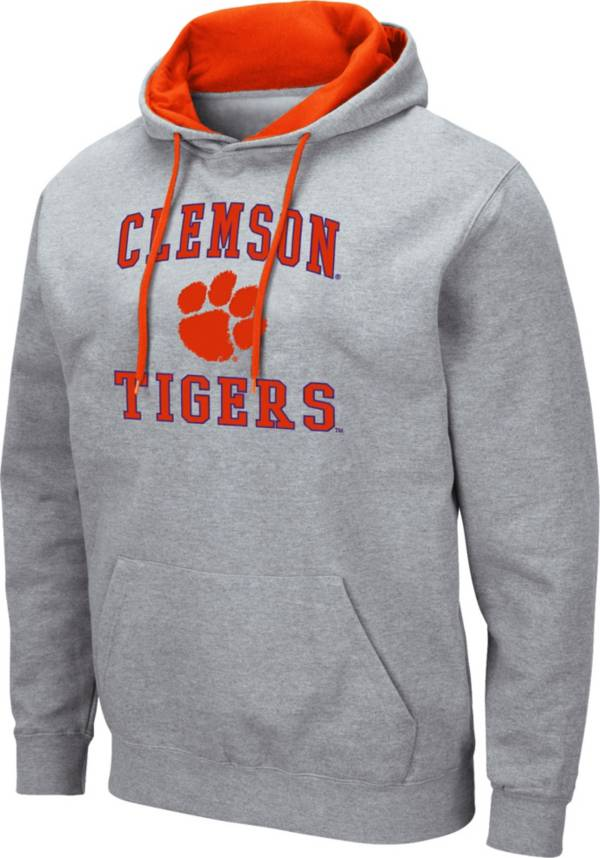 Colosseum Men's Clemson Tigers Grey Pullover Hoodie product image