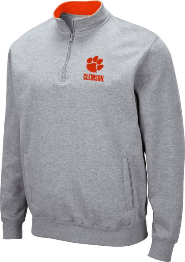 Colosseum Men's Clemson Tigers Grey Fleece Quarter-Zip Shirt product image