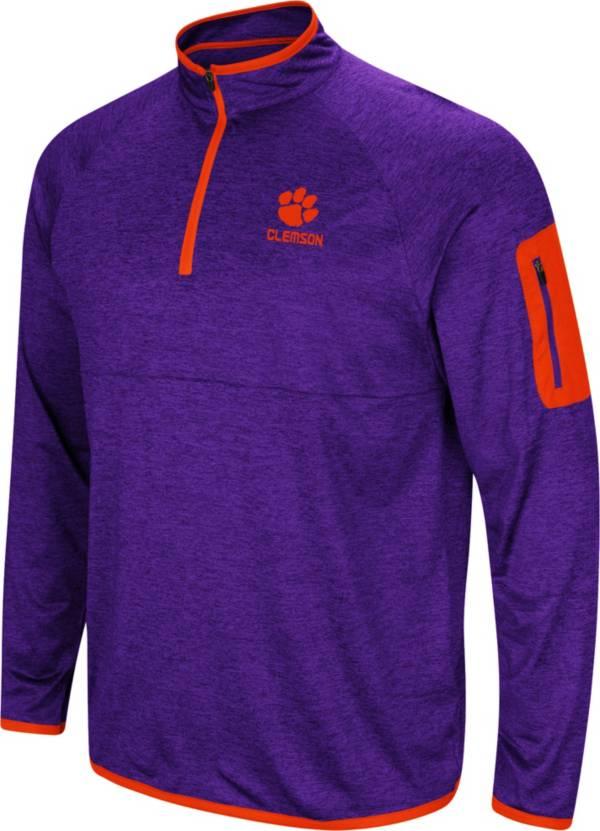 Colosseum Men's Clemson Tigers Regalia Slub Quarter-Zip Shirt product image