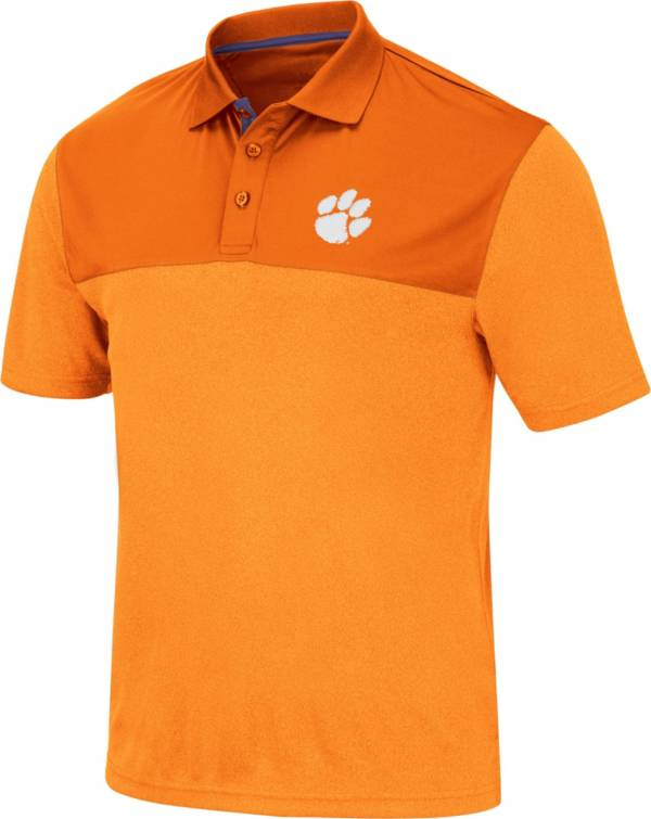 Colosseum Men's Clemson Tigers Orange Links Polo product image