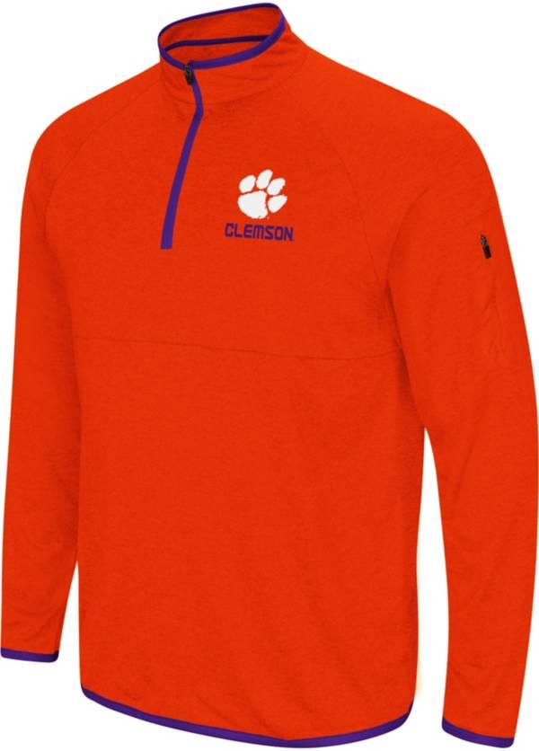 Colosseum Men's Clemson Tigers Orange Rival Quarter-Zip Shirt product image