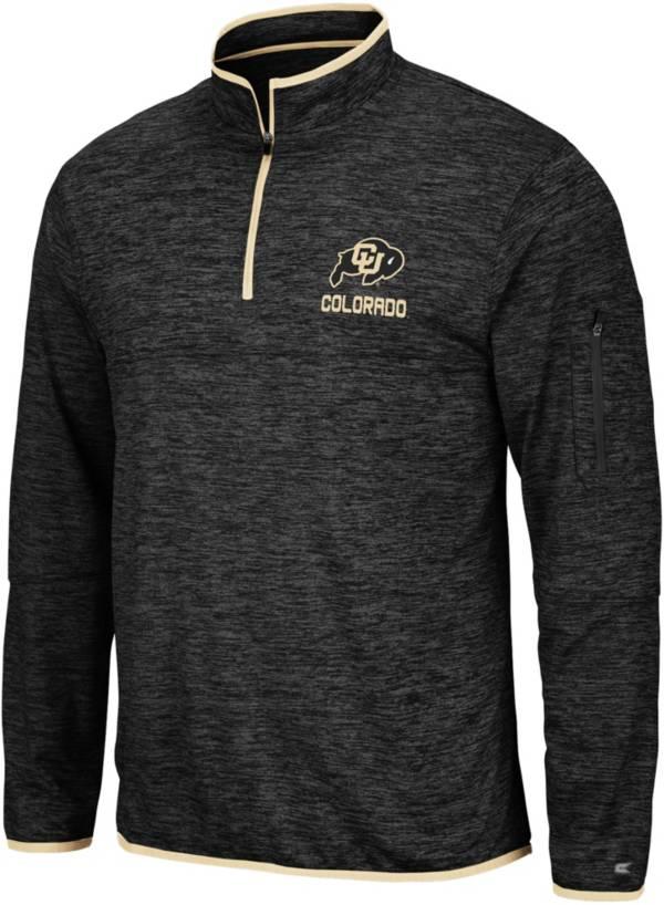 Colosseum Men's Colorado Buffaloes Slub Quarter-Zip Black Shirt product image