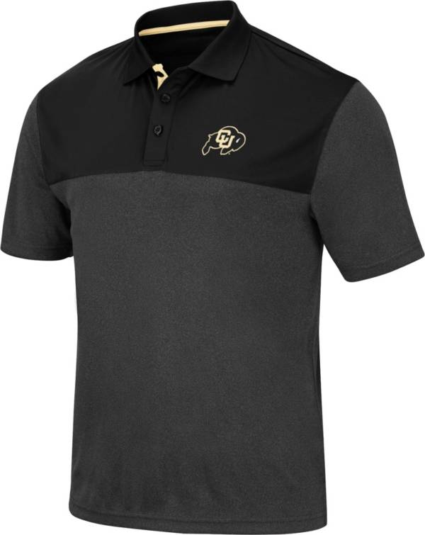 Colosseum Men's Colorado Buffaloes Links Black Polo product image