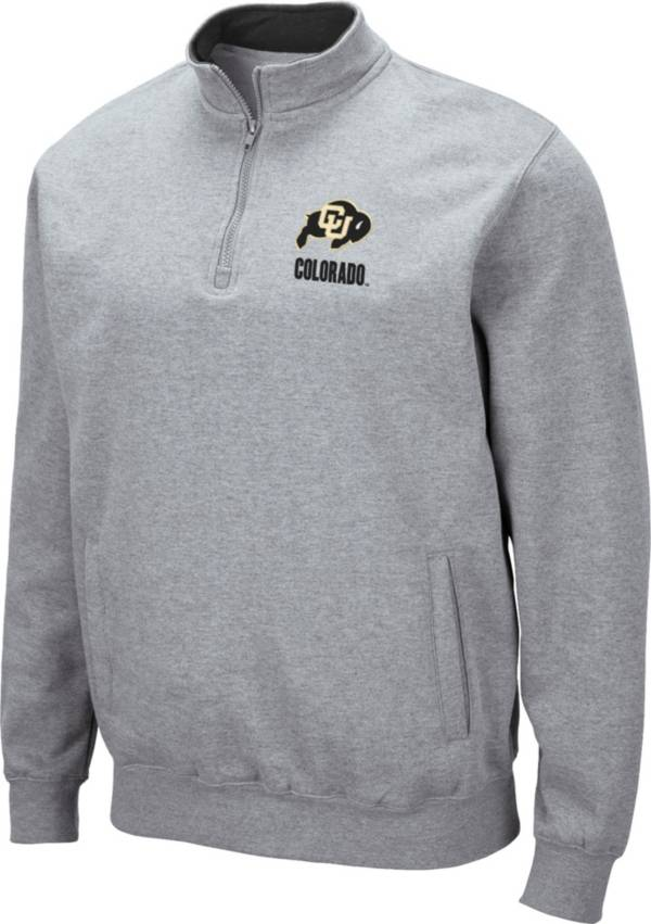 Colosseum Men's Colorado Buffaloes Grey Fleece Quarter-Zip Shirt product image