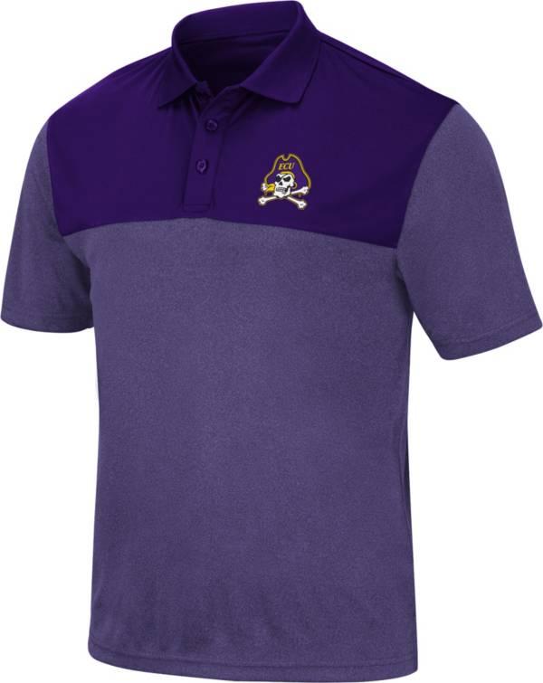 Colosseum Men's East Carolina Pirates Purple Links Polo product image