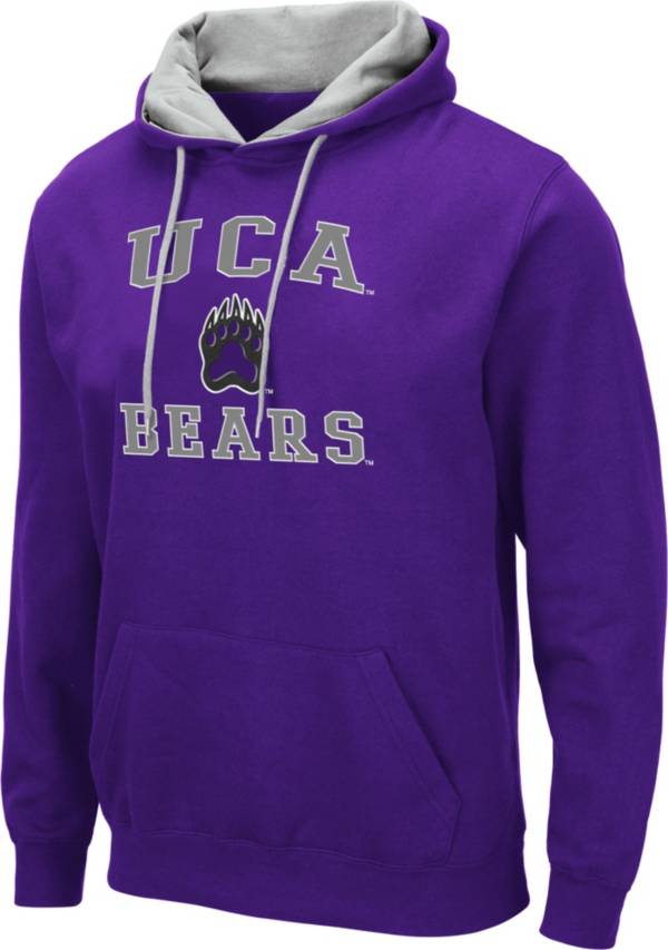 Colosseum Men's Central Arkansas Bears  Purple Pullover Hoodie product image