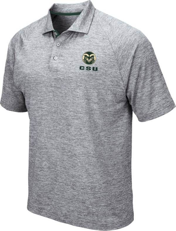 Colosseum Men's Colorado State Rams Grey Wedge Polo product image