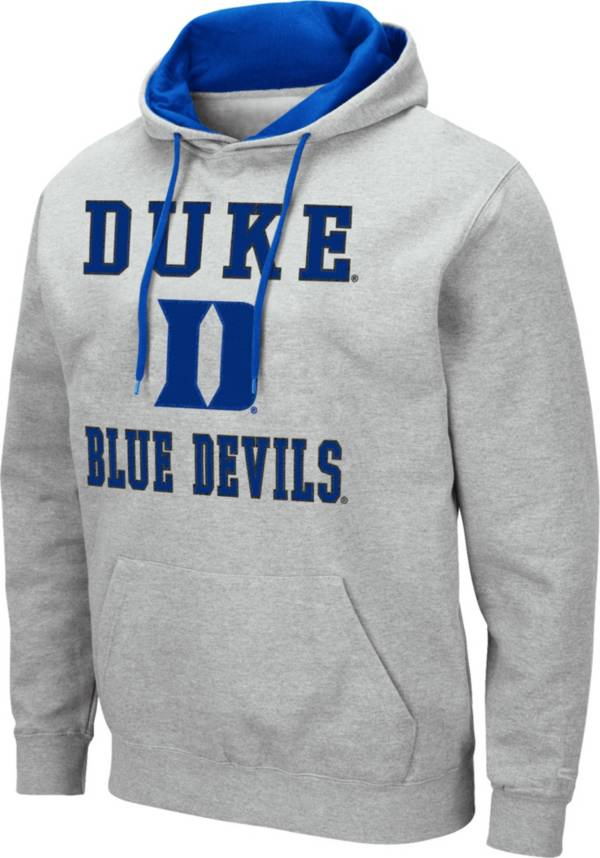Colosseum Men's Duke Blue Devils Grey Pullover Hoodie product image