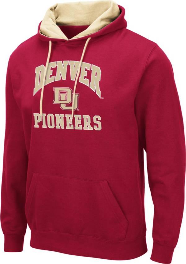 Colosseum Men's Denver Pioneers Crimson Pullover Hoodie product image