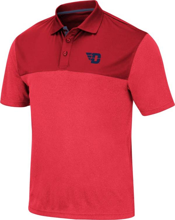 Colosseum Men's Dayton Flyers Red Links Polo product image