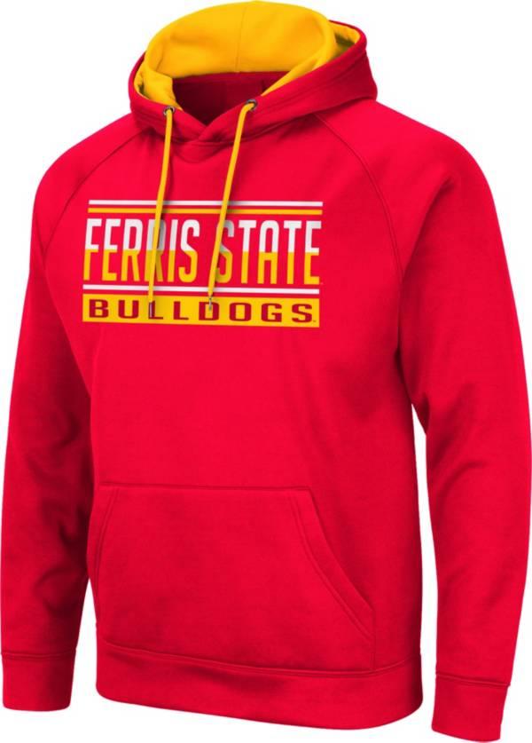 Colosseum Men's Ferris State Bulldogs  Crimson Pullover Hoodie product image