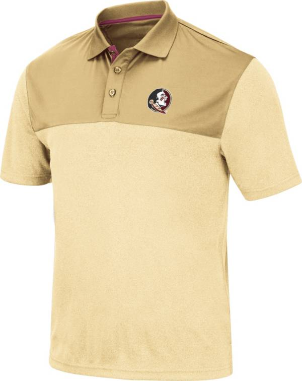 Colosseum Men's Florida State Seminoles Gold Links Polo product image