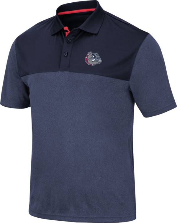 Colosseum Men's Gonzaga Bulldogs Blue Links Polo product image