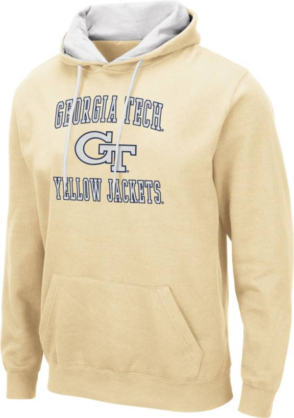 Colosseum Men's Georgia Tech Yellow Jackets Gold Pullover Hoodie product image