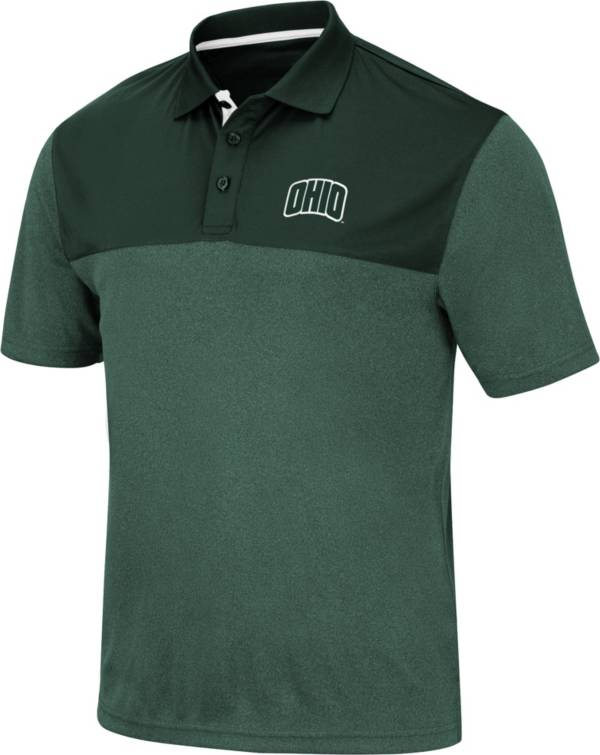 Colosseum Men's Ohio Bobcats Green Links Polo product image