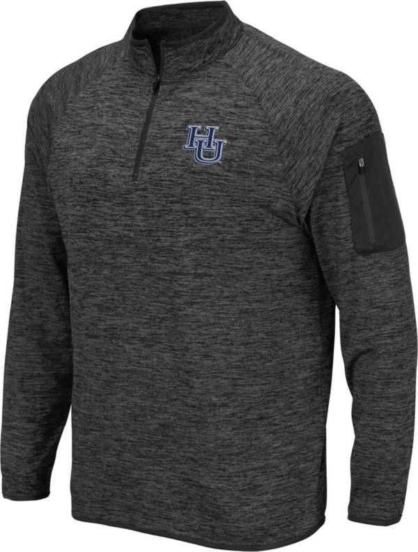 Colosseum Men's Hampton University Pirates Grey Quarter-Zip Pullover product image