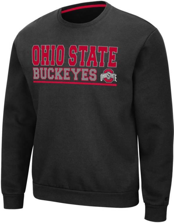 Colosseum Men's Ohio State Buckeyes Rally Crewneck Black Sweatshirt product image