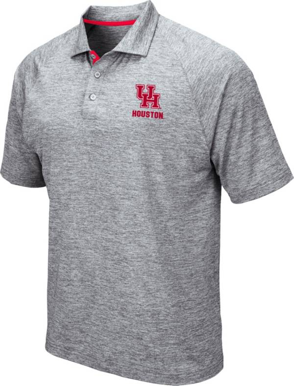 Colosseum Men's Houston Cougars Grey Wedge Polo product image