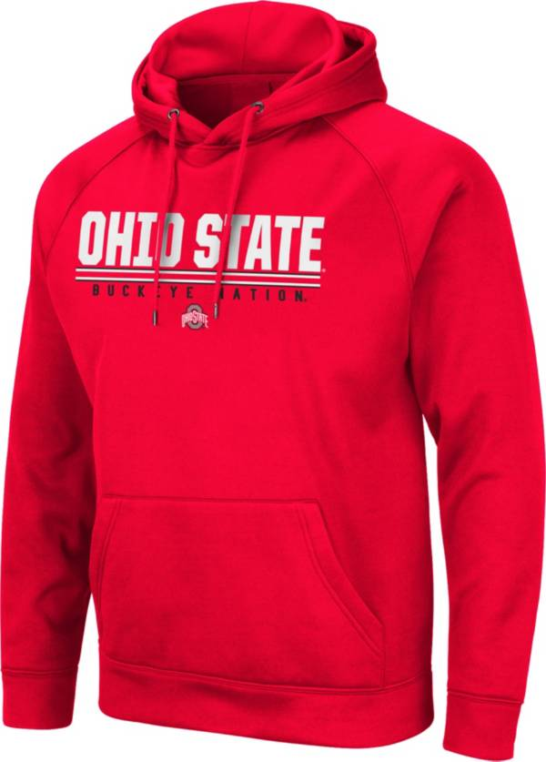 Colosseum Men's Ohio State Buckeyes Red Pullover Hoodie product image