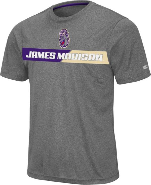 Colosseum Men's James Madison Dukes Grey Bait T-Shirt product image