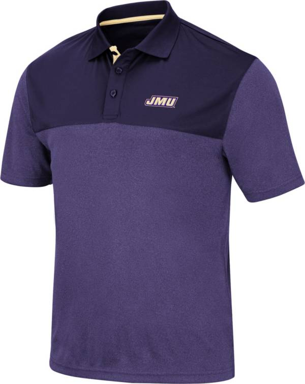 Colosseum Men's James Madison Dukes Purple Links Polo product image