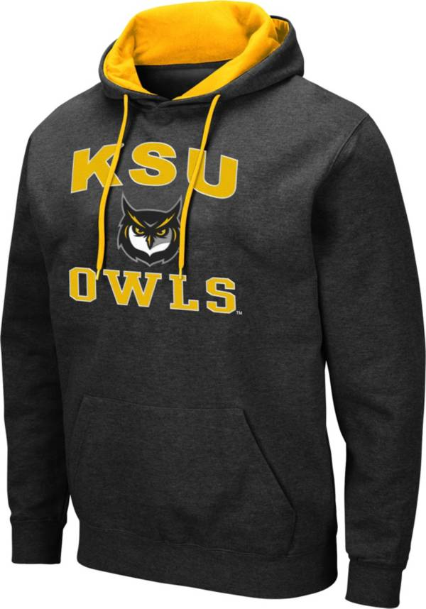 Colosseum Men's Kennesaw State Owls Pullover Black Hoodie product image