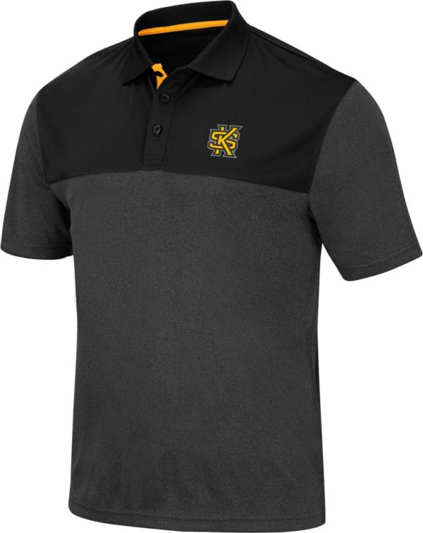 Colosseum Men's Kennesaw State Owls Links Black Polo product image
