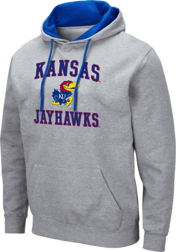 Colosseum Men's Kansas Jayhawks Grey Pullover Hoodie product image
