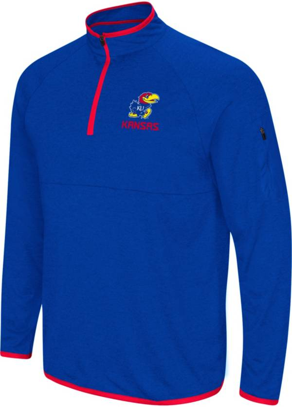 Colosseum Men's Kansas Jayhawks Blue Rival Quarter-Zip Shirt product image