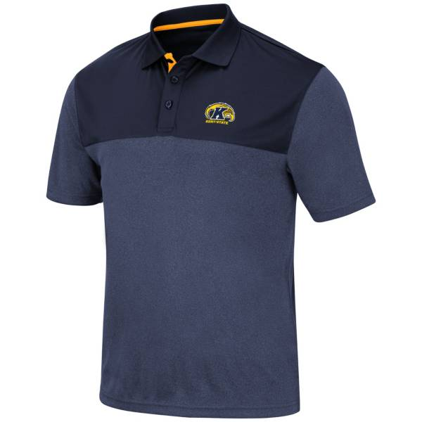 Colosseum Men's Kent State Golden Flashes Navy Blue Links Polo product image
