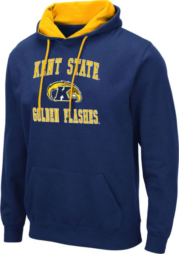 Colosseum Men's Kent State Golden Flashes Navy Blue Pullover Hoodie product image