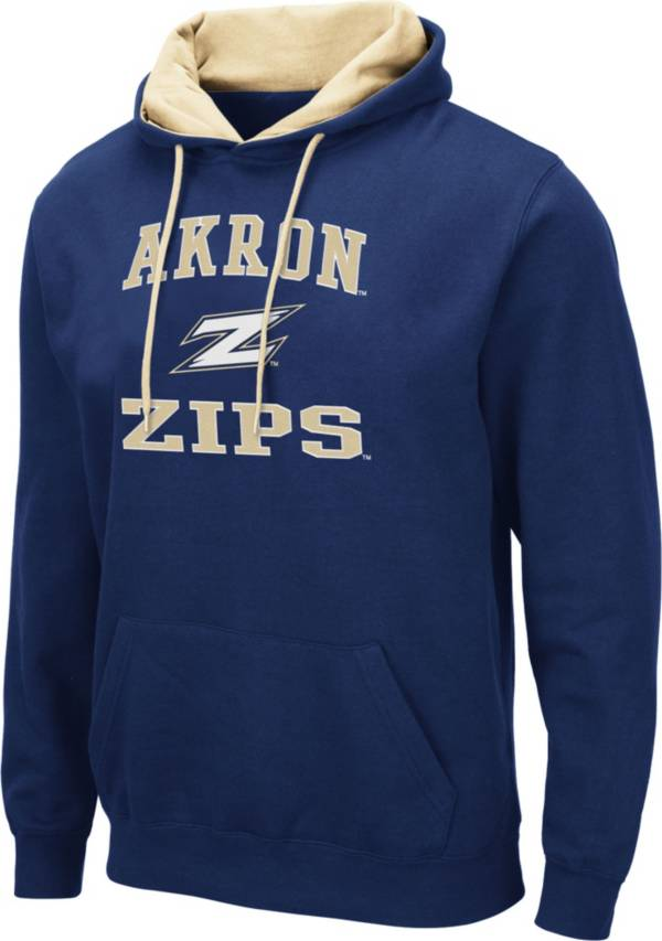 Colosseum Men's Akron Zips Navy Pullover Hoodie product image