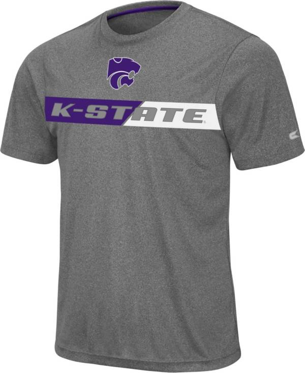 Colosseum Men's Kansas State Wildcats Grey Bait T-Shirt product image
