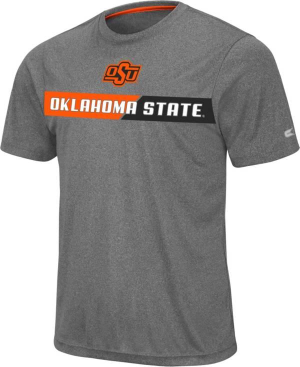 Colosseum Men's Oklahoma State Cowboys Grey Bait T-Shirt product image