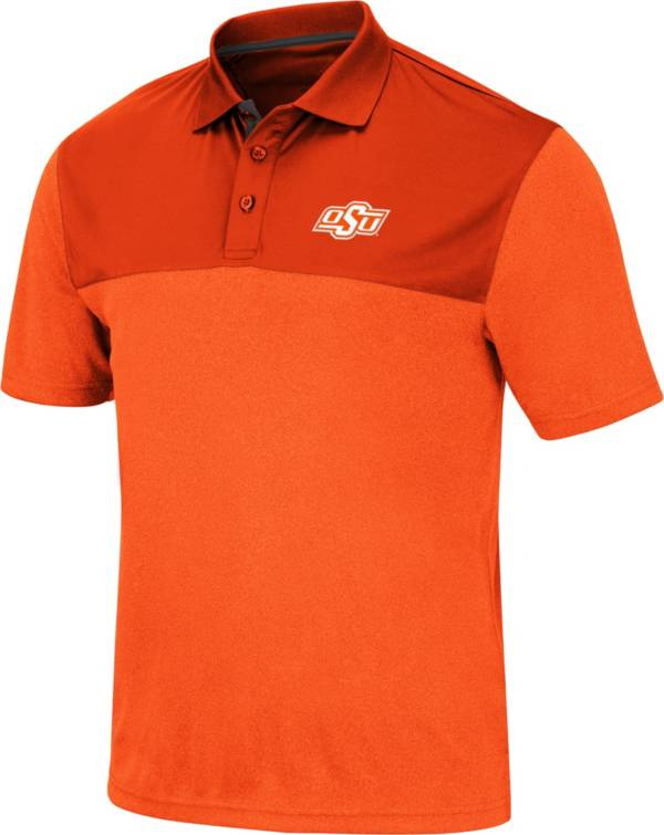 Colosseum Men's Oklahoma State Cowboys Orange Links Polo product image