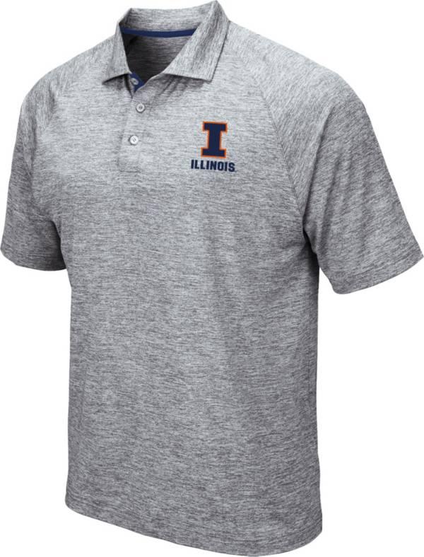 Colosseum Men's Illinois Fighting Illini Grey Wedge Polo product image