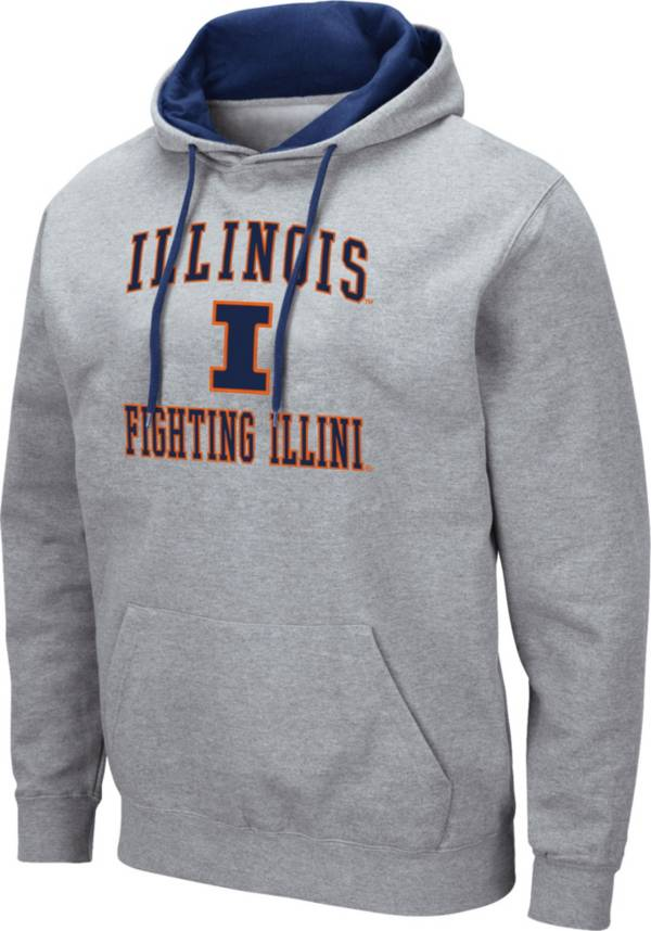 Colosseum Men's Illinois Fighting Illini Grey Pullover Hoodie product image