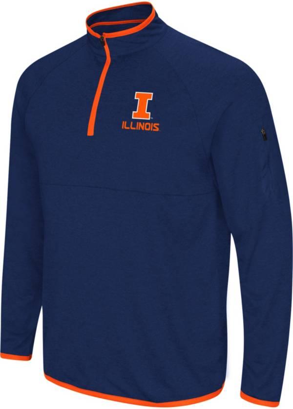 Colosseum Men's Illinois Fighting Illini Blue Rival Quarter-Zip Shirt product image