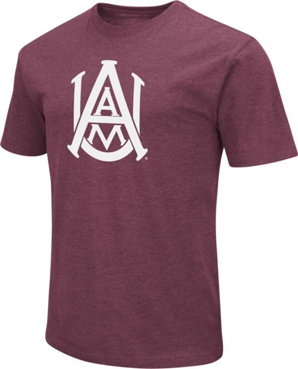 Colosseum Men's Alabama A&M Bulldogs Maroon Dual Blend T-Shirt product image