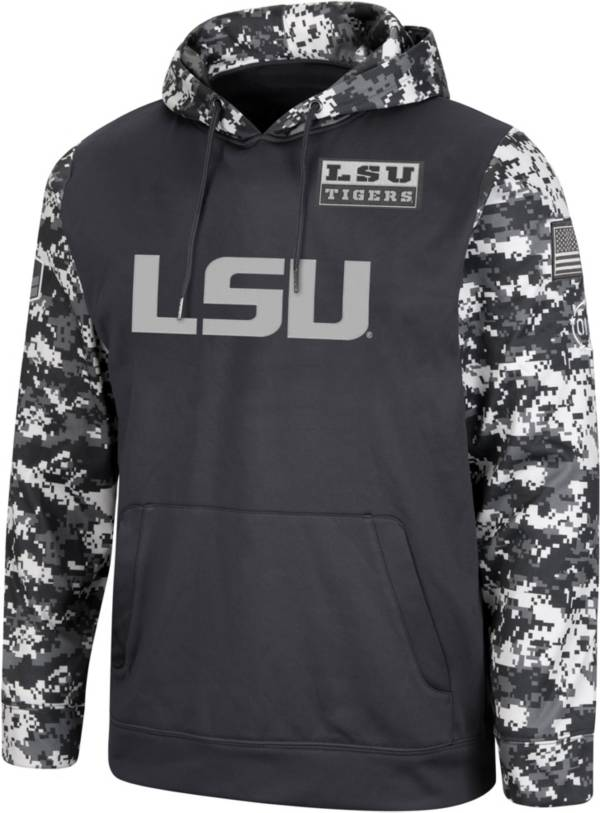 Colosseum Men's LSU Tigers Camo OHT Hawk Pullover Hoodie product image