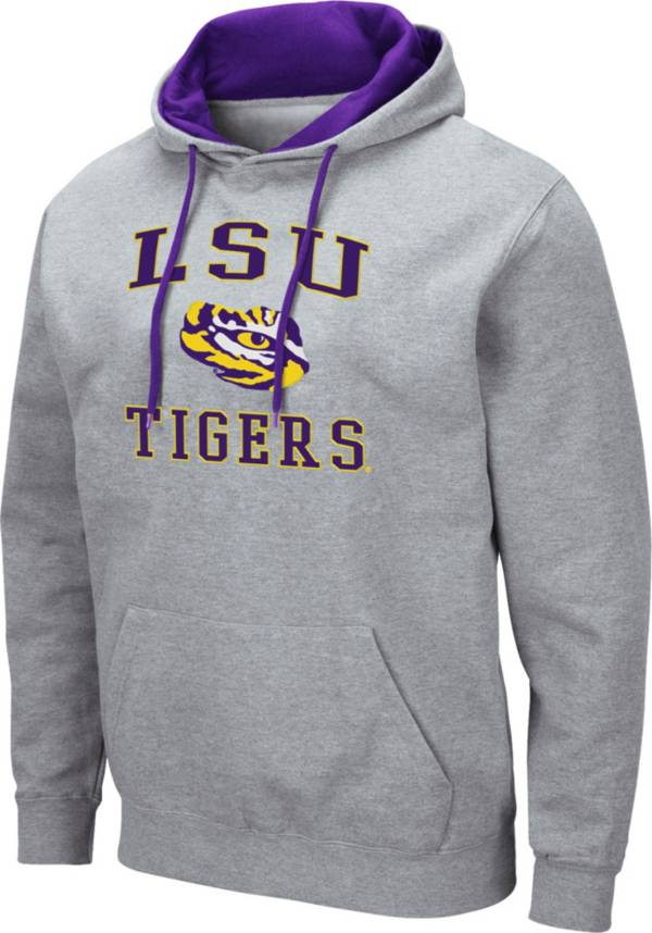 Colosseum Men's LSU Tigers Grey Pullover Hoodie product image